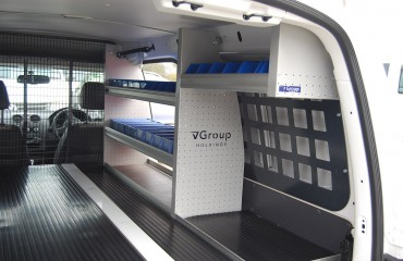VQuip - Van Transforming Vehicles | False Floor - Custom Shelving