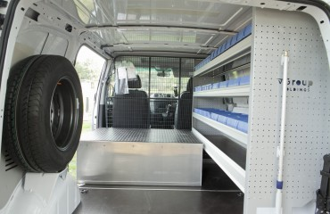 VQuip - Van Transforming Vehicles | Service Van - Side Drawer