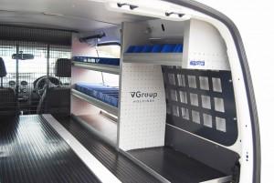 VQuip - Van Transforming Vehicles | False Floor - Custom Shelving